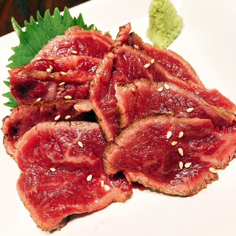 国産牛刺し(ステーキダイニング ブラン)